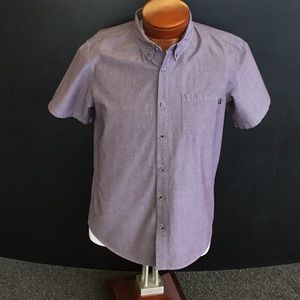 Oakley S/S Collared Shirts, Purple- Large